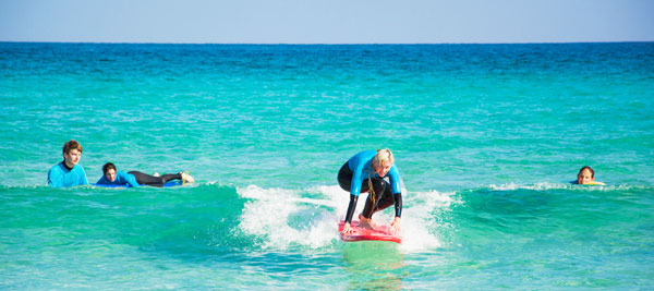 Surf lessons on Fuerteventura 15.01.2014