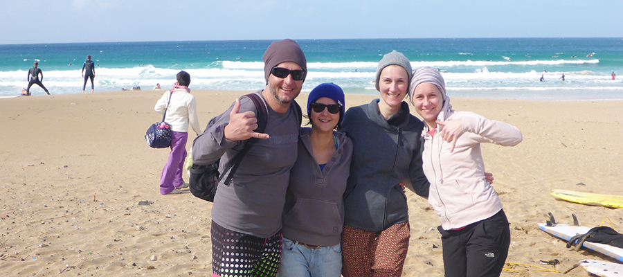 Surf lesson at Cotillo Beach, Fuerteventura, on 25/01/2014
