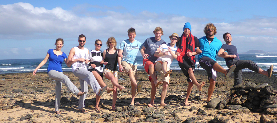 Surfing at Fuerteventura's northshore: Surf course on 13/02/2014