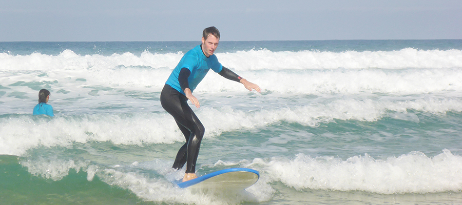 Good times at the surfcamp Fuerteventura: Surf lessons on 14/02/2014