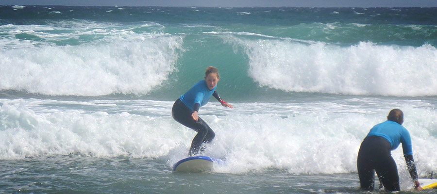 Surfcamp in Fuerteventura: Surf course on the 05.03.2014