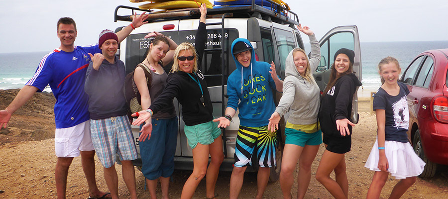 Surfing Fuerteventura: Surfing lesson on the 08.03.2014