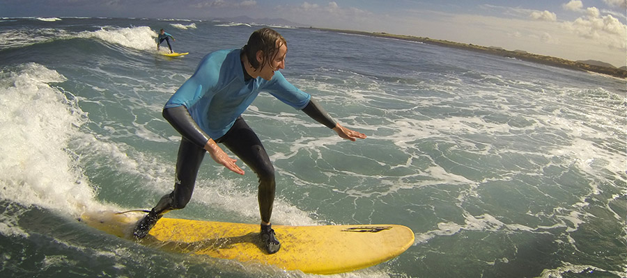 Surfing in Fuerteventura: Surf course on the 10.03.2014
