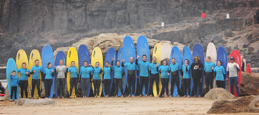 Surfing at Fuerteventura: Surf course on the 12.03.2014
