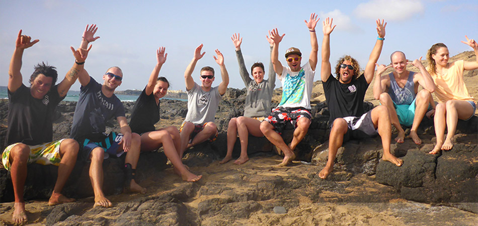 Surfing at Fuerteventura: Surf course on the 17.03.2014