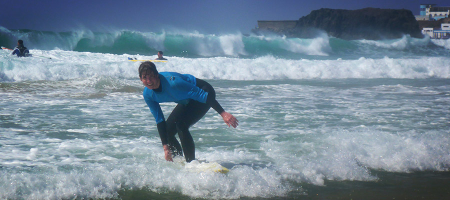 A sunny day in El Cotillo: The surf courses on the 24.03.2014