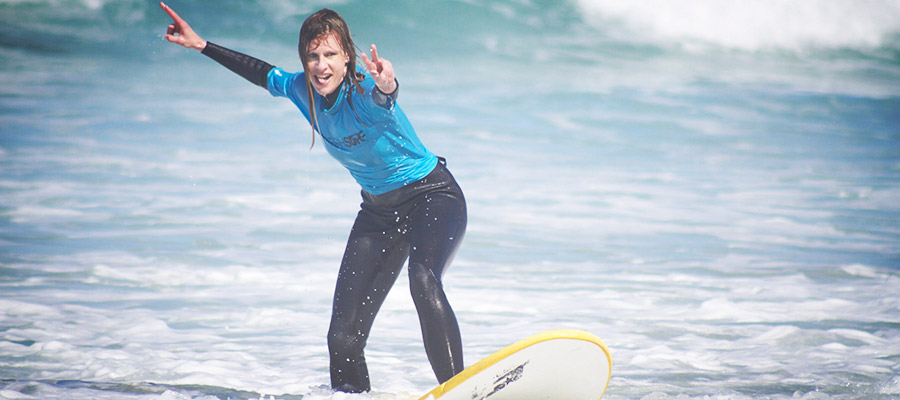 Surfing like in the summer: Our surf course at the 31.03.2014