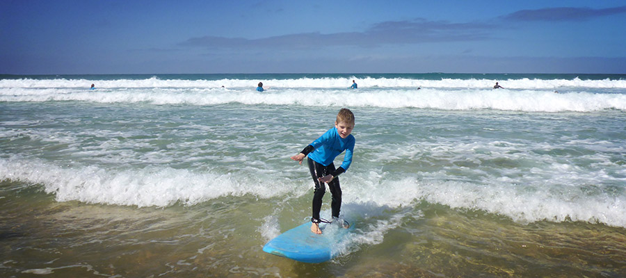 Surfing at Fuerteventura: Surfing lessons on the 06.03.2014