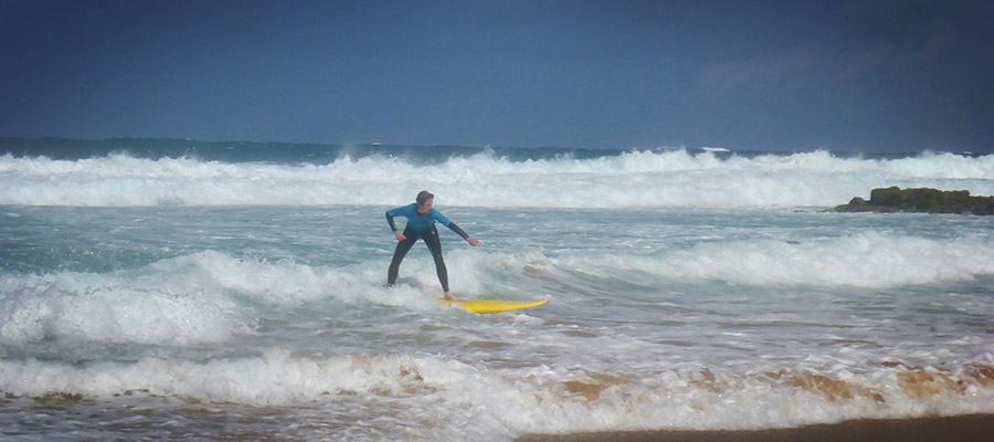Surf Course on the 2nd of April in El Cotillo, Fuerteventura