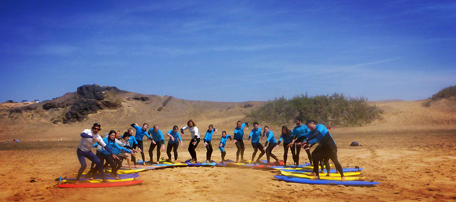 Family surfing at Fuerteventura: Our surf course on the 07.04.2014