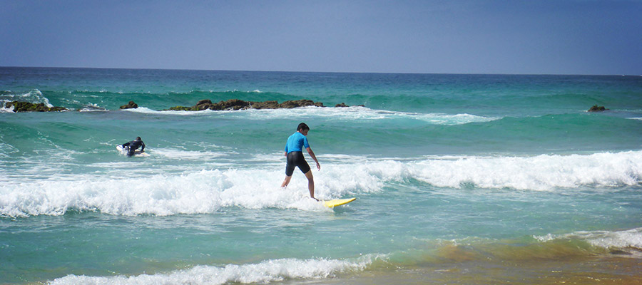 Surfing at the Cotillo Beach: our courses on the 14.04.2014