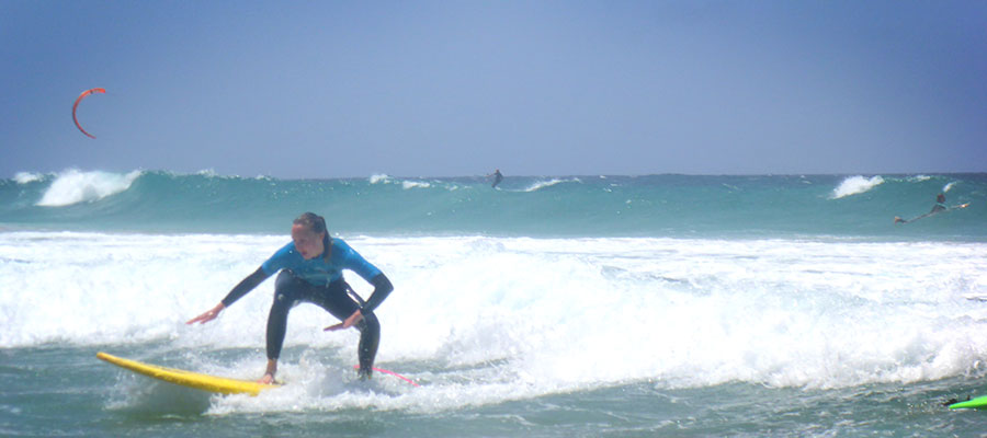 Surfing at Freshsurf: Our surf course on the 08.05.2014