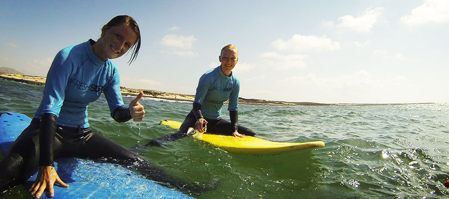 Surfing with gorgeous weather: Our surf courses at the 21.05.2014