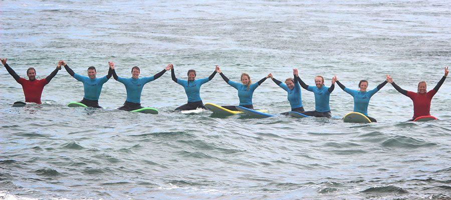 A sunny surfing day: Our surf courses on the 23.05.2014