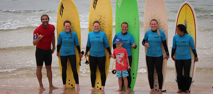 Surfing at Fuerteventura: Our surf course on the 06.06.2014