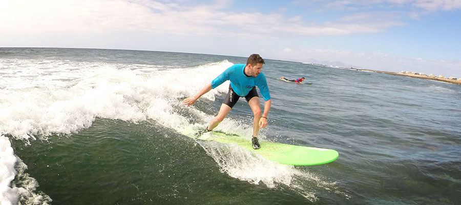 Surfcamp at Fuerteventura: Our course on the 18.06.2014