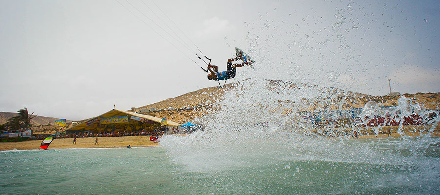 Windsurfer and Kitesurfer: The world cup at Fuerteventura