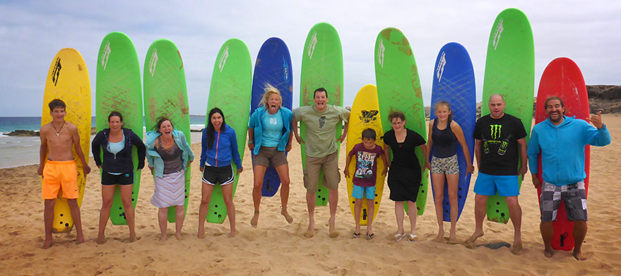 Family Surfing at Fuerteventura: our course on the 18.07.2014