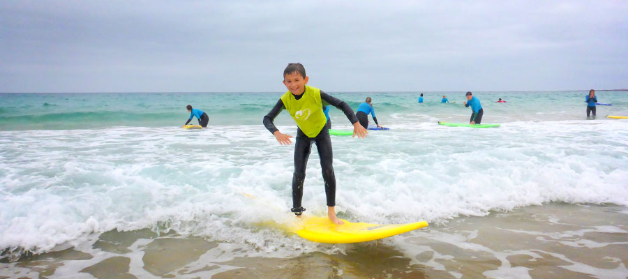 Learn to surf with the surfcamp Fuerteventura: Surf course on 16/07/2014