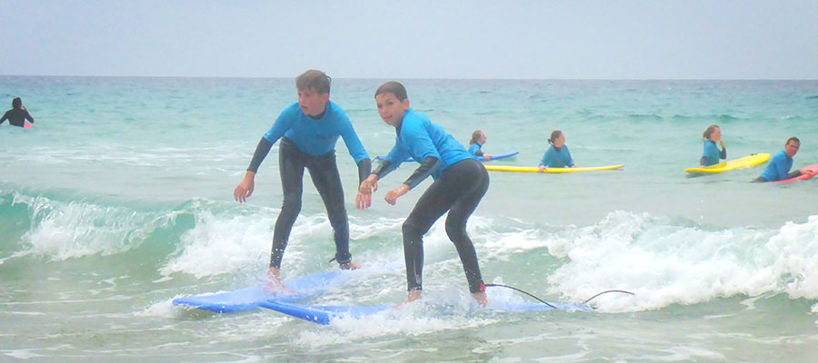 Surfing on the Canary Isles: Surf course at Cotillo Beach on 17/07/2014
