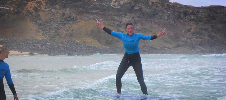 Learn to surf with the Surfcamp on the Canary Isles – surf course on 04/07/2014