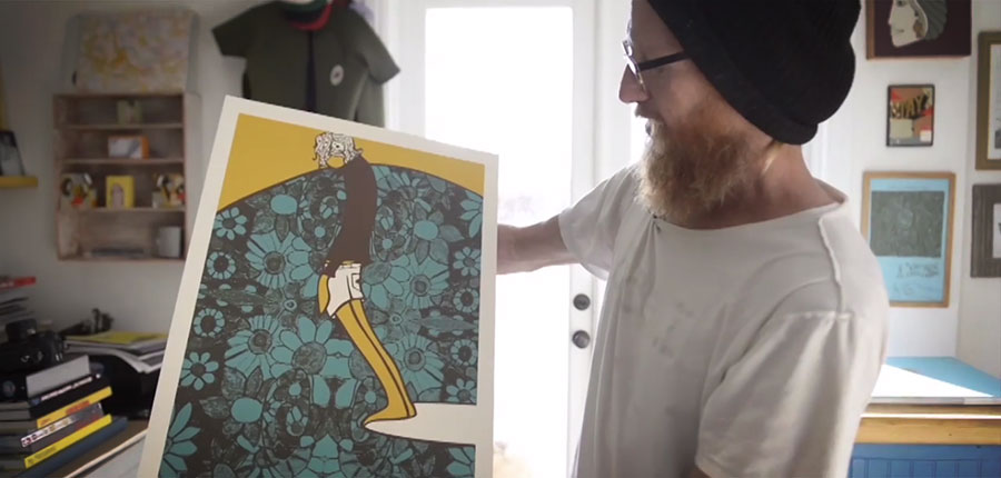 """""""My art is a daydream."""" Andy Davis about his genius surfers art"""