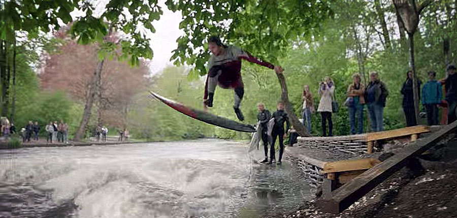 Surfing not at Fuerteventura but in Munich City- A inspiring video of O'Neil