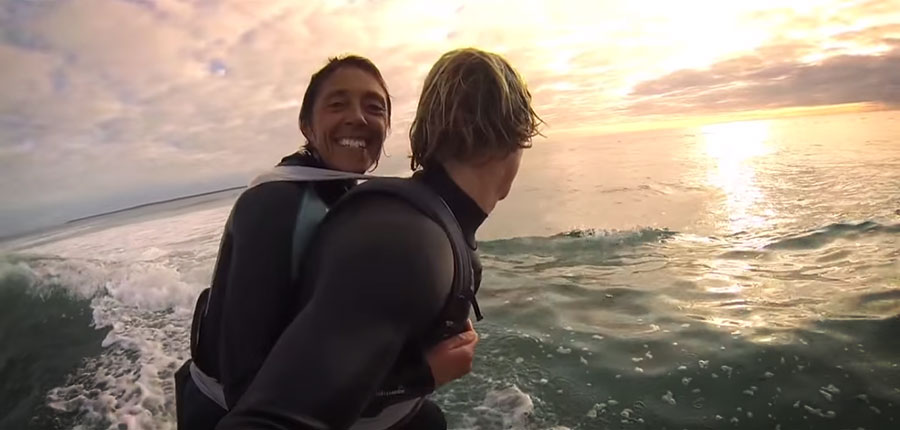 Duct Tape Surfing – a dream came true for paraplegic woman