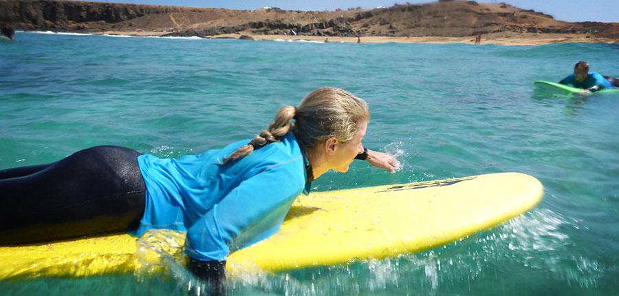 Emilia's last day in our surfcamp on fuerteventura