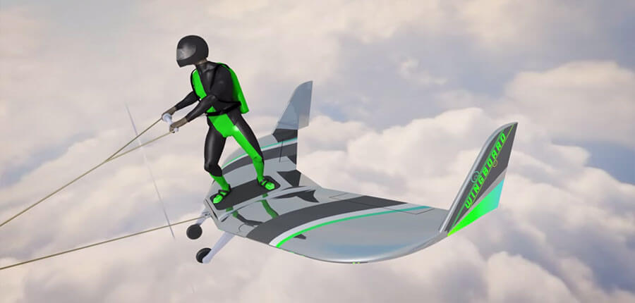 The WingBoard combines wakeboarding and skydiving – awesome or insane?