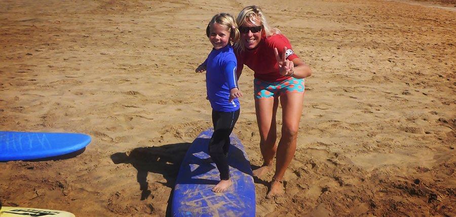 Family surfing on Fuerteventura – pictures of our surfcamp on 17 October 2014