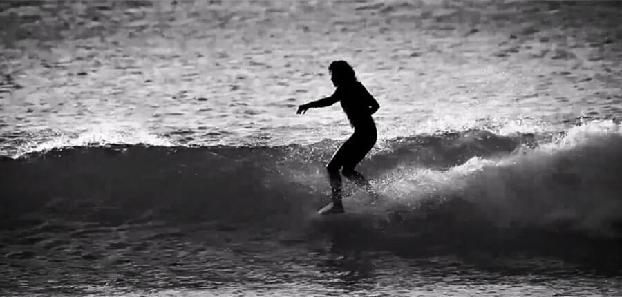 Longboard-Surfen-Spanien
