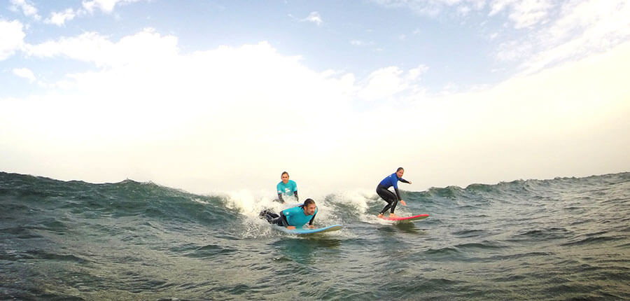 Surfing on new years eve – surfing lessons on Fuerteventura on 31st of December 2014