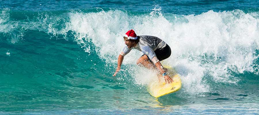 Surfing in December on the Canary Islands – pictures of our surfing lessons on 6 December
