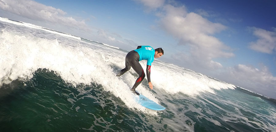 Surfing in december on Fuerteventura – surfing lessons on 17. December 2014