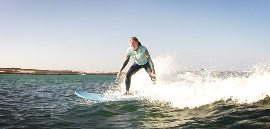 Learn how to surf in our surfcamp on Fuerteventura