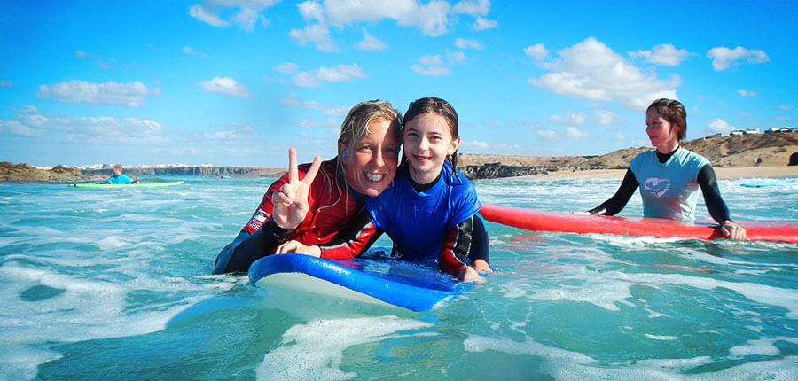 Winter surfing in our surfschool on Fuerteventura – our surfing lessons on the 05 of January 2015