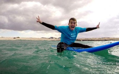 Learning how to surf in our surfcamp on Fuerteventura – surfing pictures from the 7 of January 2015