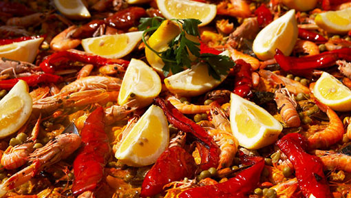 Fresh Paella at Cafe Central