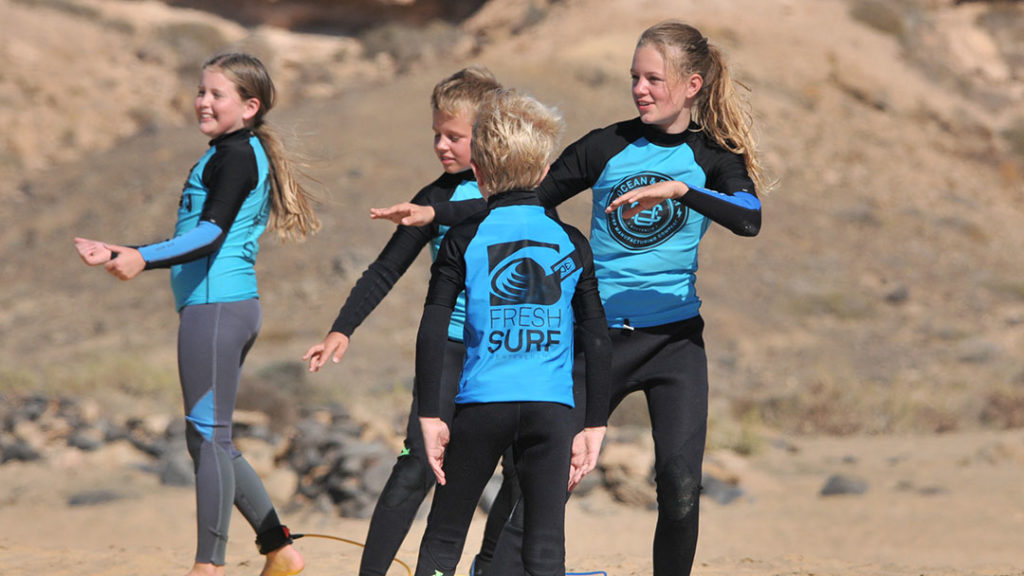 Surfer girl on Fuerteventura